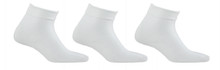 Mens White Ankle Socks 3 Pack Big and Tall Size 13-16