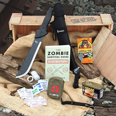 Zombie survival essentials.  Never bunker down without them.