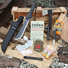 Take back the upper hand with this stash of supplies. Equipped with a Gerber® machete and axe/knife combo.