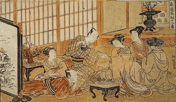 Ramen Tasting (or Tea Ceremony, Isoda Koryusai)