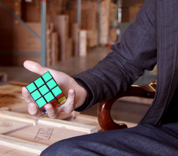 Put a Rubik's cube on your desk and ask for a promotion