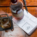 Journal your refined thoughts about whiskey for research. Delicious, relaxing research.