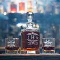 You know you fancy. This monogrammed whiskey decanter is to put the world on notice.