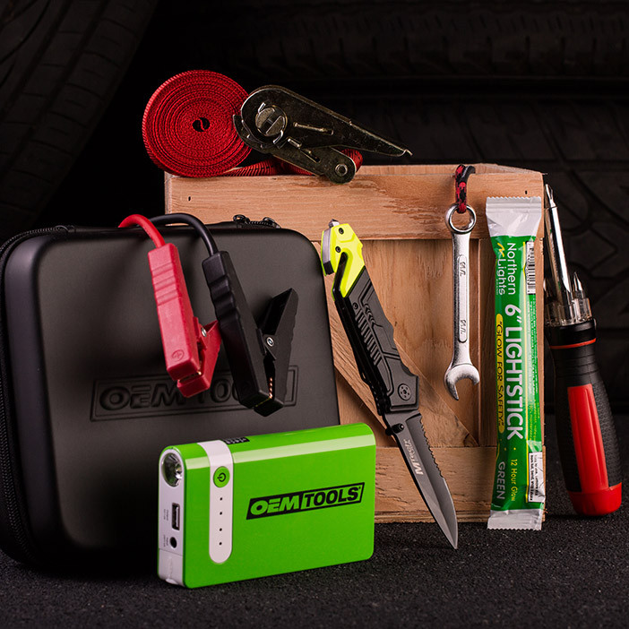 The Road Warrior Crate takes all the suspense out of a car emergency. What a buzzkill.