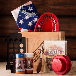 Just when you thought burgers couldn't get any more American, the Grilled & Stuffed Crate shatters your tiny world.