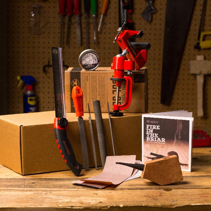 Make your trust smoke buddy a cut above the rest with the Fire in the Briar Pipe Carving Kit.