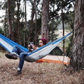 The Outdoor Hammock. Learn your knots well, or feel the pain.
