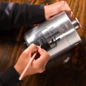 Label your freshly filled growler with chalk.