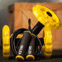 Sculpt the abs of a minor demigod with these Sklz core wheels and jump rope