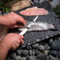 Kershaw folding filet knife for fresh camping meals.