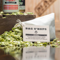 Refreshing bag of fresh, dried hops.