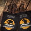 Woolly Mammoth and Giant Sloth jerky. Aged for thousands of years.