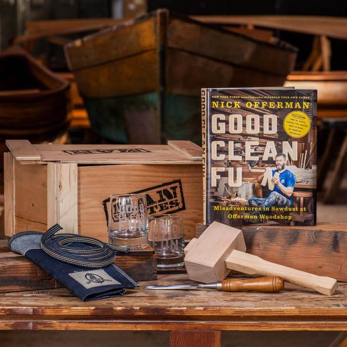 Nick Offerman's Whiskey and Woodworking Crate
