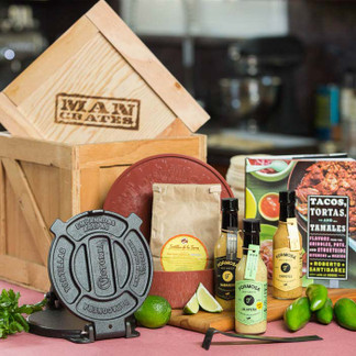 The Taco Mania Crate is an awesome gift for men