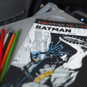 Travel Survival Pack  features Coloring DC: Batman Hush and colored pencils