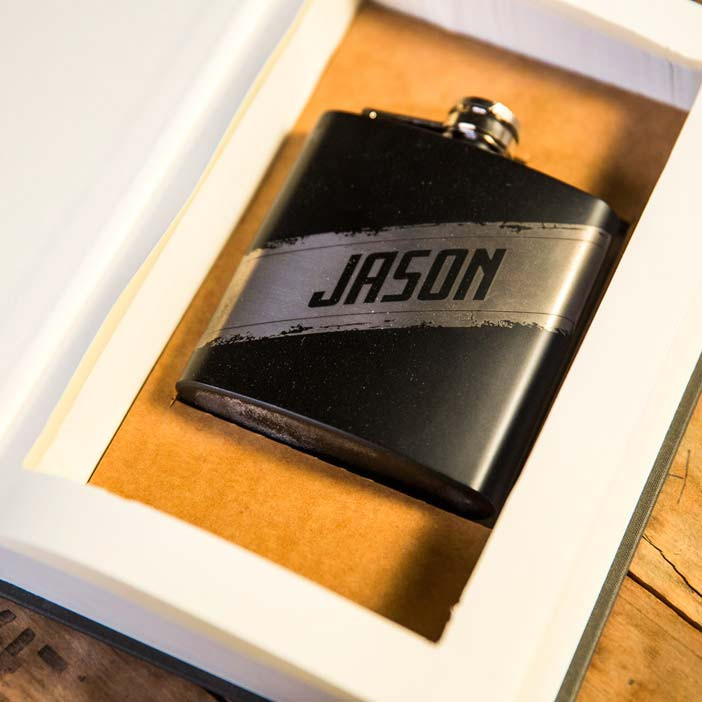 Secret Stash Personalized Flask, Book, and Insert