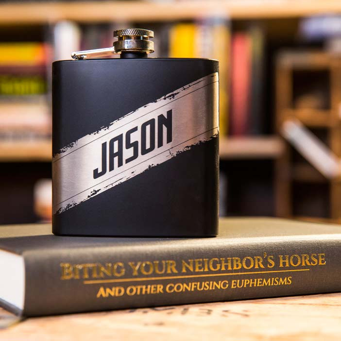 Personalized Flask and Secret Stash Book