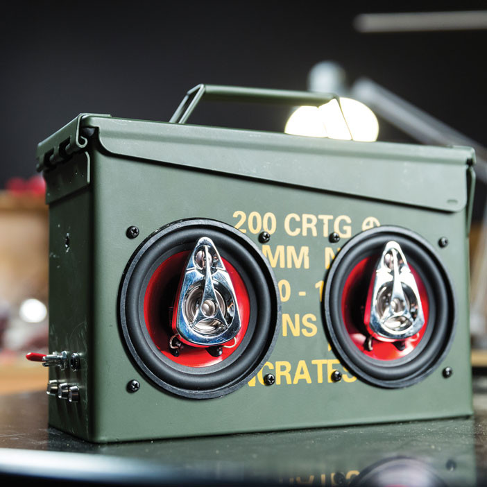 What Is A Good Gift For A Man Part - 38: Ammo Can Speaker Project Kit Is An Awesome Gift For Men