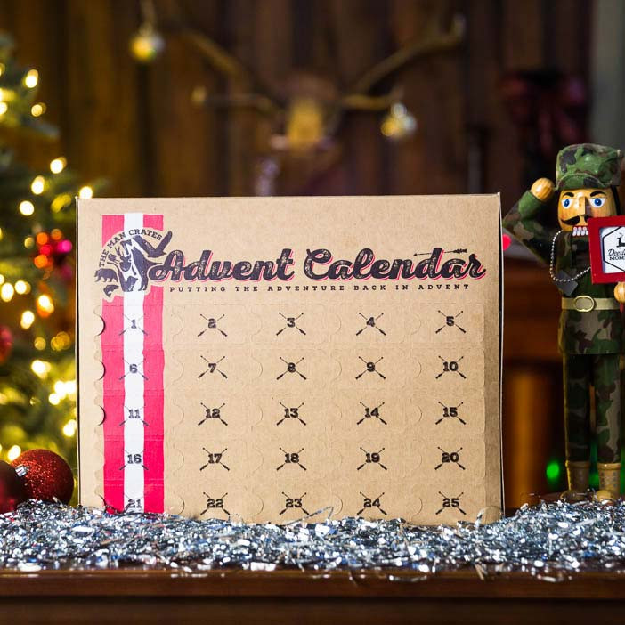 The Man Crates Jerky Advent Calendar features 25 tender pieces of delicious jerky.