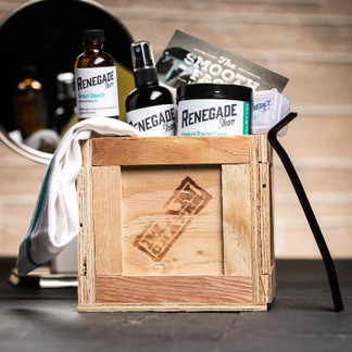 Fear not, with our luxurious Smooth Face Mini Crate his scraggly beard will be no more