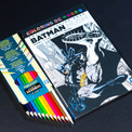 Travel Survival Crate  features Coloring DC: Batman Hush and colored pencils