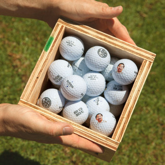 Personalized Golf Ball Mini Crate