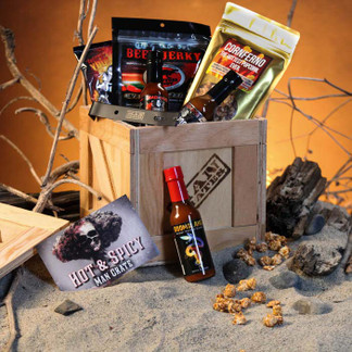 Delicious Hot Sauces and Snack Gift for Guys