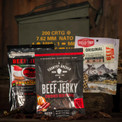 Premium Jerky Ammo Can has all the great snacks a man can want