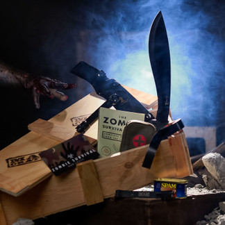 The Zombie Survival Crate is an awesome gift for men