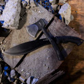 Made of forged steel, the Elk Ridge Machete and MTech Axe is the ultimate close range weapon. Throw if necessary.