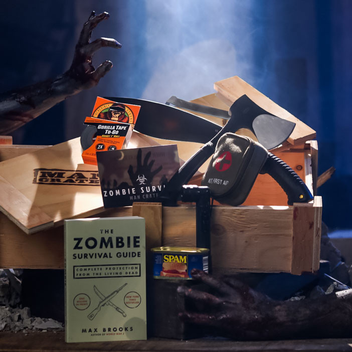 The Zombie Suppression Crate is an awesome gift for men