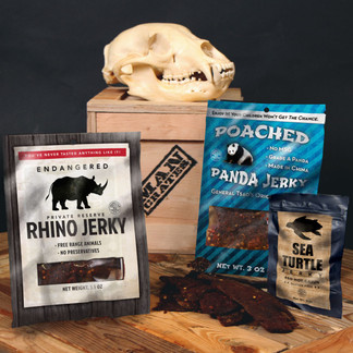 Sample the savory dark meat of an endangered white rhino.