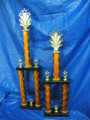 Orange & Black Tall Two Column Awards 2 sizes