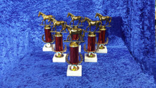 Red sale equestrian trophy