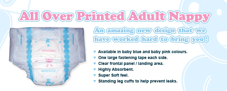 Cuddlz Adult All Over Print Nappy For Sale