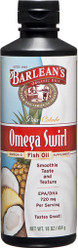 Barleans Omega-3 Fish Oil Supplement - Omega Swirl - Pina Colada Flavor