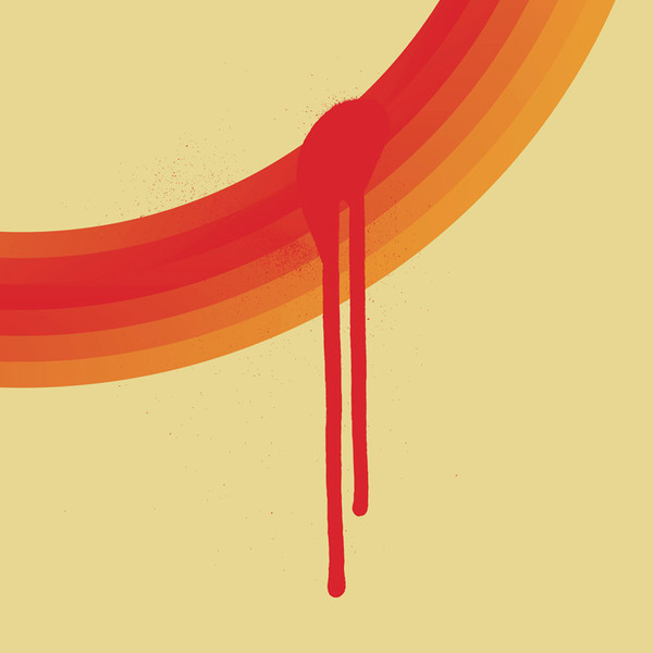 Orange Loop No.2 print (detail) by Dig The Earth