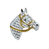 Navika Charms - Crystal horse head lapel pin