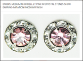 LIGHT ROSE/ SWAROVSKI CRYSTAL  RHONDELL EARRINGS