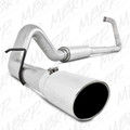 "MBRP 4"" Turbo Back Aluminized Exhaust System Single Side Off-Road With Muffler Ford 6.0L 03-07"