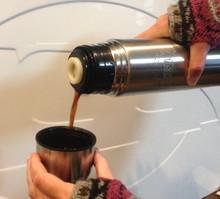Black Cloud Diesel Stainless Steel Travel Coffee Thermos