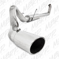 "MBRP Turbo Back 4"" Stainless Steel Exhaust WITH Muffler, Single Side Exit Dodge 2003-2004"