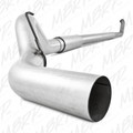 "MBRP Turbo Back 5"" Aluminized Exhaust WITH Muffler, Single Side Dodge 2003-2004"