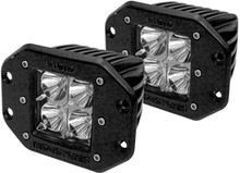 Rigid Industries #RIG21211 Flood Light Pair shown profile