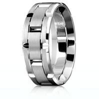CARLEX WB-9316-Z Platinum 7.5mm Comfort Fit Wedding Band