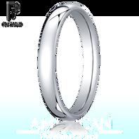 Platinum 3.5mm European Comfort-Fit ™ Ring