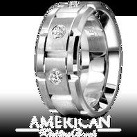 CARLEX WB-9211 18kt 9mm White Gold Comfort Fit Diamond Wedding Band (0.30ct)