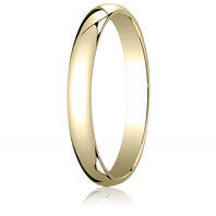 14kt Yellow Gold 3mm Traditional Comfort-Fit Ring