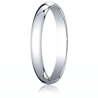 14kt White Gold 3mm Traditional Comfort-Fit Ring