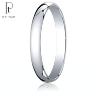 Platinum 3mm Traditional Comfort-Fit Ring
